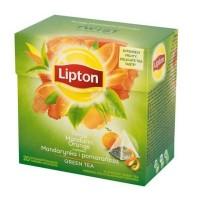 Lipton ceai verde mandarine si portocale, 20 plicutele