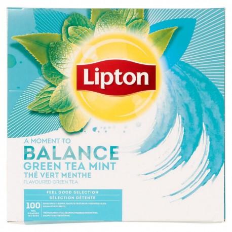 Lipton ceai verde cu menta 100 pliculete