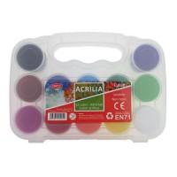 Set 12 culori acrilice 20ml Daco Acrilia