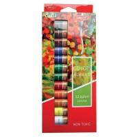 Culori acrilice 12 pe set, 12 ml, Daco