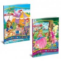 Carte de colorat A4, 96 pagini, fete/baieti