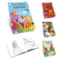Carte de colorat 17x24cm, 16 pagini, diverse teme