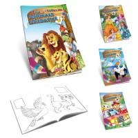 Carte de colorat A4 cu diverse teme