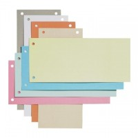 Separatoare carton 10 x 23.5cm,  100 buc./set, culori asortate