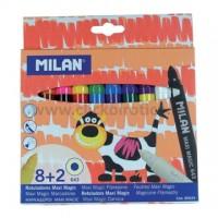 Carioca set 8 culori + 2 care schimba culoarea, Milan