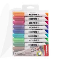 Marker whiteboard Kores set 10 culori