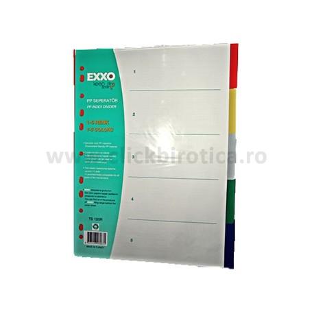 Separatoare plastic color 5 buc./set, EXXO