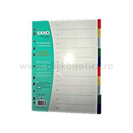 Separatoare plastic color 10 buc./set, EXXO