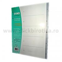 Separator index plastic gri numeric 1- 5, EXXO