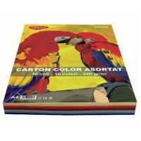 Carton A4 10 culori asortate 50 coli, 240g/mp, Daco