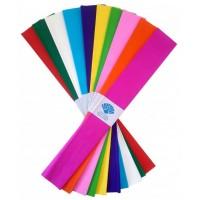 Hartie creponata 0,5x2m, set 10 culori, Color Arte