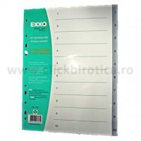 Index plastic gri numeric 1-10, Exxo