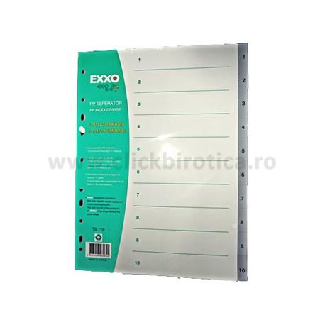 Separator index plastic gri numeric 1-10, Exxo