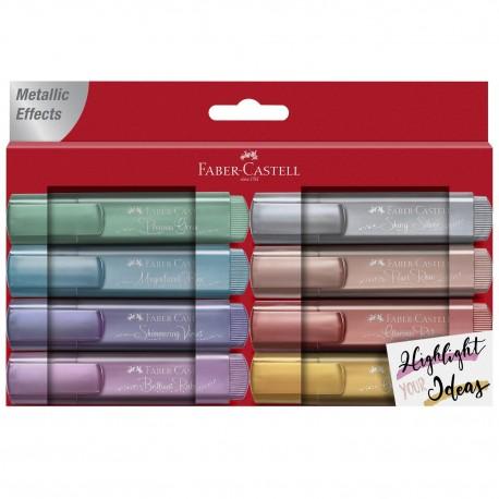 Textmarker Faber-Castell Metalizat set 8 culori