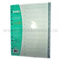 Separator index plastic gri numeric 1-12, EXXO
