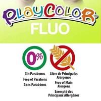 Tempera solida 6 culori Playcolor Fluo, Instant