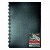 Bloc desen hartie neagra A3 cu spira, 30 file, 140g/mp, Daco