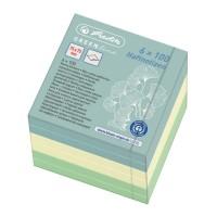 Notes adeziv cub color, 75x75mm, 6x100 file Herlitz GREENline