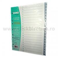 Index plastic gri numeric 1-20, EXXO