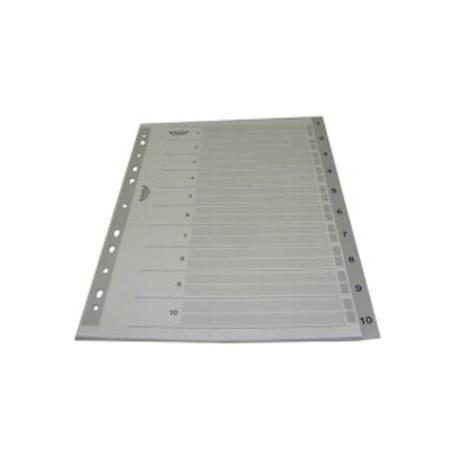Separator index plastic gri numeric 1-52, Optima