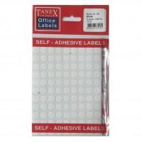 Etichete rotunde albe 10mm, 1080 buc./set, Tanex