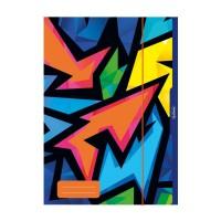 Mapa A3 cu elastic, carton plastifiat, Herlitz Neon Art