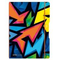 Caiet A4 My.Book Flex Neon Art, 2x40 file, Herlitz
