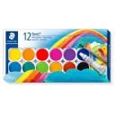 Acuarele 12 culori+pensula+tub alb, Staedtler