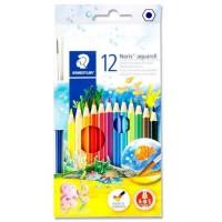 Creioane color acuarela Staedtler 12 culori + pensula