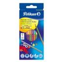Creioane colorate Pelikan bicolore 2x12 culori