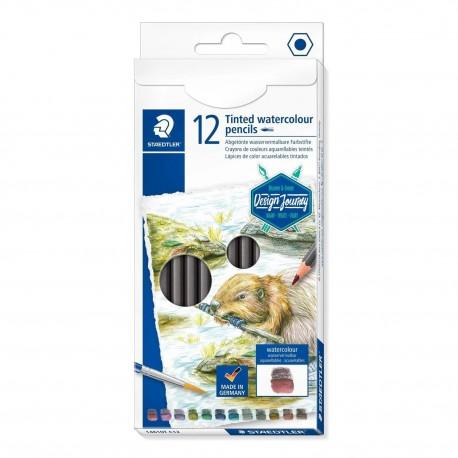 Creioane color acuarela Staedtler 12 culori cu efect umbrire