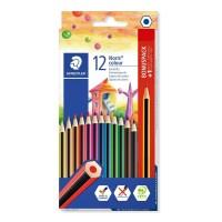 Creioane colorate Staedtler 12+1 culori Noris