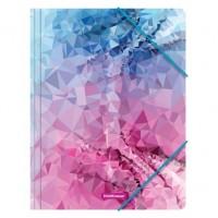 Mapa cu elastic din plastic A4, ErichKrause Pink Dinamique