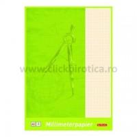 Hartie milimetrica A4 80g/mp, Herlitz
