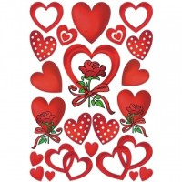 Abtibild cu inimioare si trandafiri, Herma