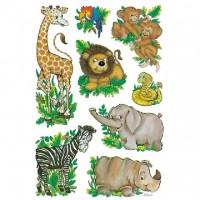 Abtibild cu animale din jungla, Herma
