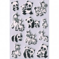 Abtibild cu zebra si panda, Herma