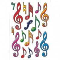 Abtibild cu note muzicale, Herma
