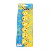 Magneti Smiley diametru 30 mm, 6 buc./set, Centrum