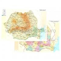 Harta fizica si administrativa a Romaniei, A3