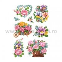 Abtibild cu buchte de flori, Herma