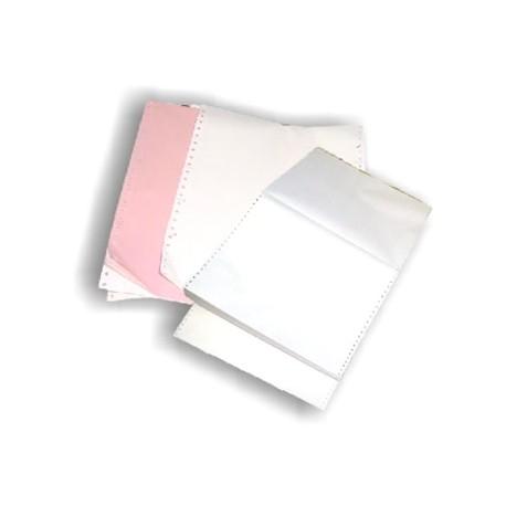Hartie pentru imprimante matriceale A4, 2 ex., alb-verde, 850 seturi/cutie