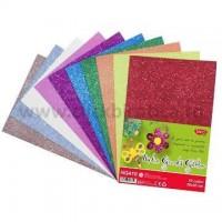 Hartie gumata Glitter 20 x 30 cm, set 10 culori, Daco