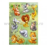 Abtibild cu animale din jungla 3D, Herma