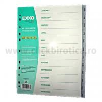 Separator index plastic gri lunar ianuarie-decembrie, Exxo