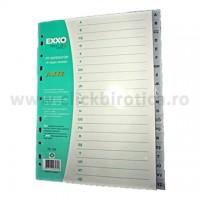 Separator index plastic gri alfabetic A-Z, Exxo