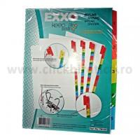 Separator index carton alb numeric 1-5, Exxo