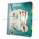 Separator index carton alb numeric 1-10, Exxo