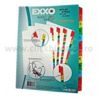 Separator index carton alb numeric 1-12, Exxo
