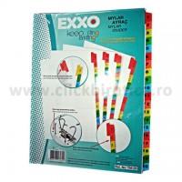 Separator index carton alb numeric 1-20, Exxo